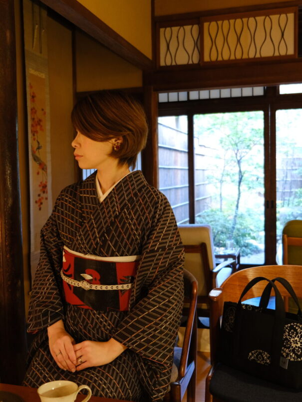京都人のお出掛け普段着着物