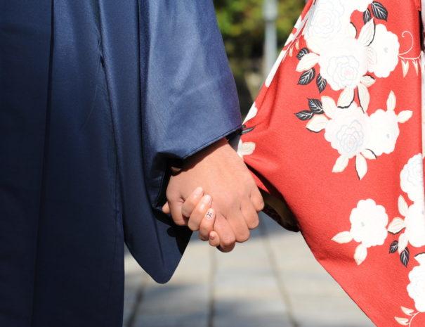 カップルで夫婦で着物で京都