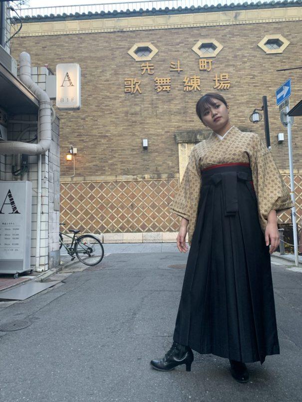 アンティーク袴レンタルで街歩き