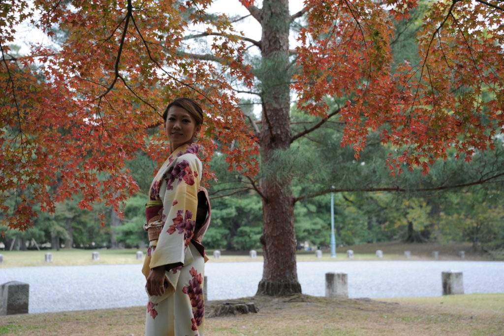 レンタル着物で楽しむ京都御所