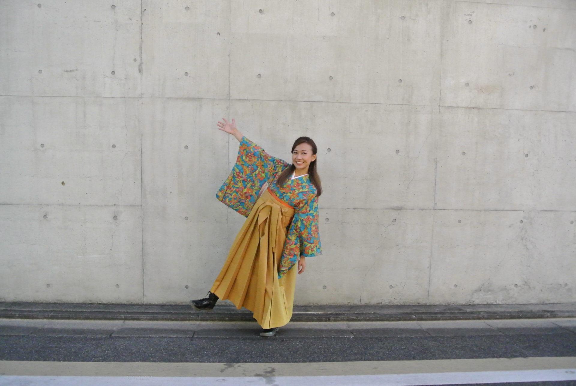 正絹アンティーク着物と袴レンタル - 京都UME SAKURA